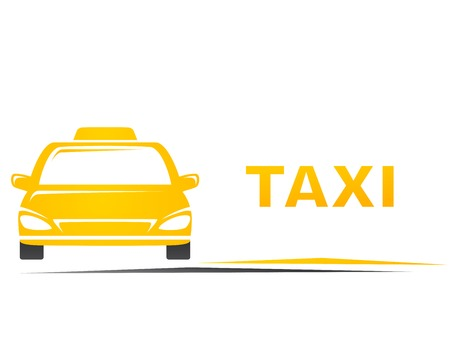 yellow taxi car silhouette and blank place Vector