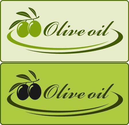decorative lines: dos etiqueta del aceite de oliva con las l�neas decorativas