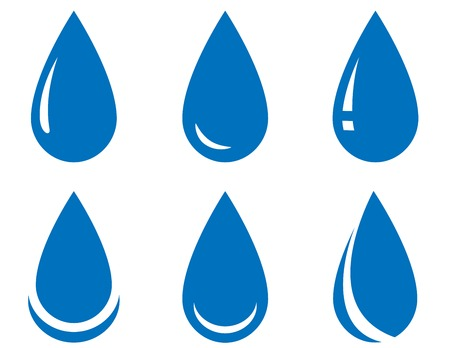 drinkable: abstract water drop set on white background Illustration