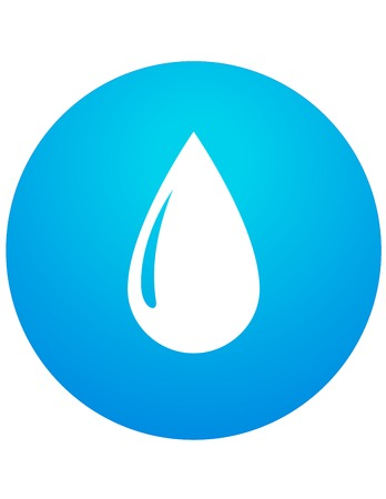 abstract water drop on blue background Vector