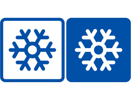 blue and white abstract snowflake signs Vector