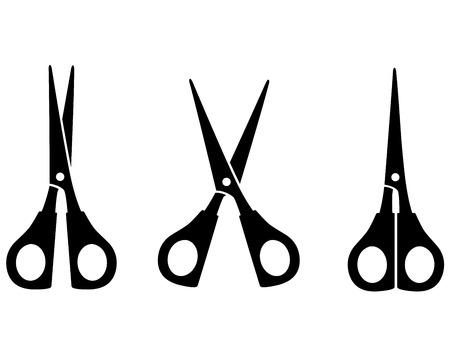 black scissors silhouette on white background Vector