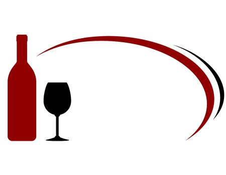red wine bottle: background with red wine bottle, glass and decorative lines