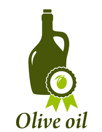 oil bottle: olive oil bottle with premium quality emblem
