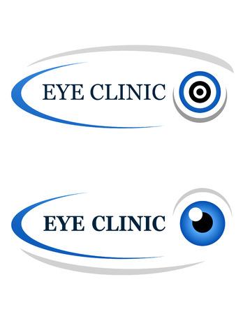 eye icon: eye clinic icon on white background Illustration