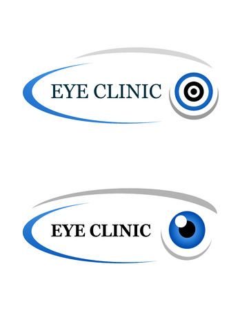 beauty surgery: eye clinic sign on white background