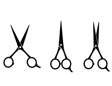 pair of scissors: isolated cutting scissors icon on white background