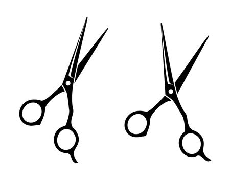 izolowane profesjonalne nożyczki ikonę na białym tle
