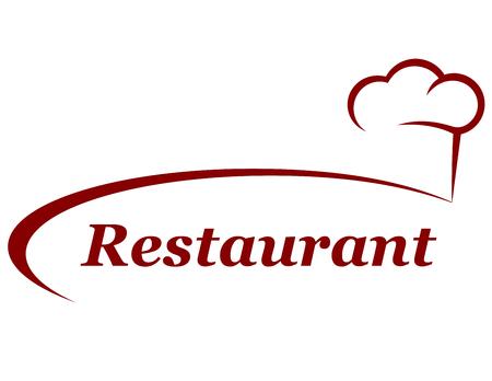 restaurant achtergrond met chef-kok hoed en plaats voor tekst Stock Illustratie