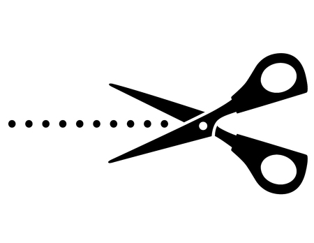cutting scissors: cutting scissors with black points on white background Illustration