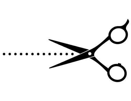 cutting scissors: cutting scissors image and points on white background