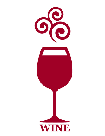 sign with goblet of red wine and grape decorative element