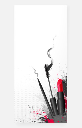 corrector: style cosmetic beauty makeup art background Illustration