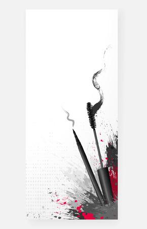 beauty shop: style beauty cosmetics makeup art background