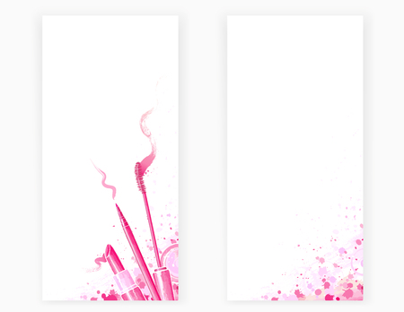 corrector: art template design card, background with beauty cosmetics