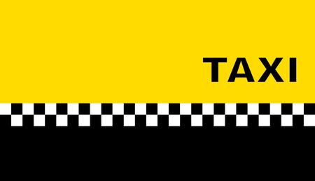 car rent: yellow graphic background with taxi business card