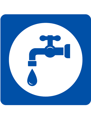 engeneering: sign with blue tap and water drop icon