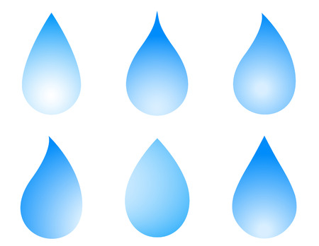 drinkable: blue droplet icon set on white background