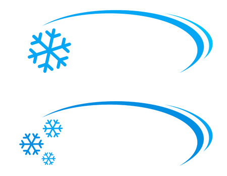 blizzards: winter background with snowflake icon and decorative line