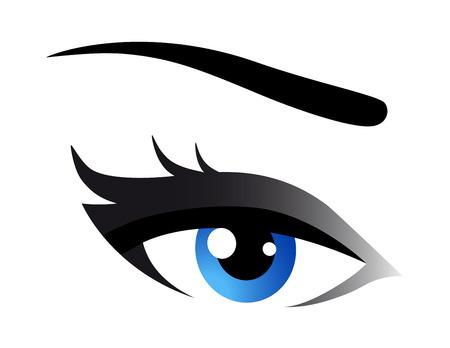 blue eye: blue woman eye