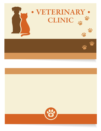 veterinary business card Illustration