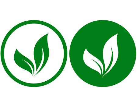 nutrition health: two icons with leaves