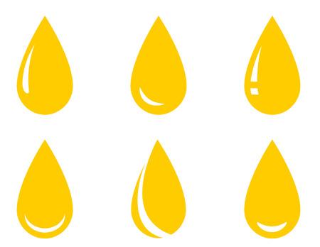 oil droplet set Illustration