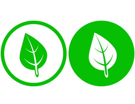 two round leaf icons