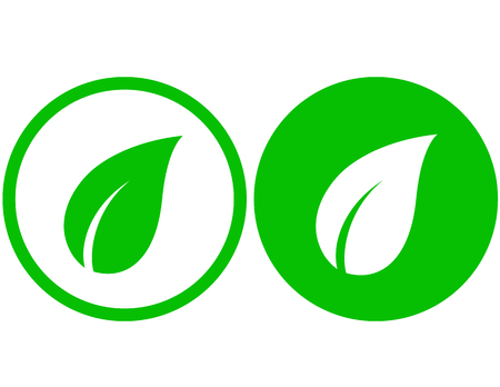 young leaves: Two leaf icons Illustration