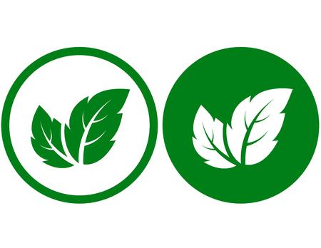 Zeichen mit Blättern Standard-Bild - 79064075