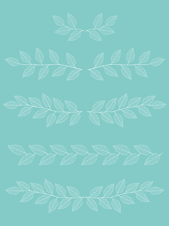 branches dividers set Illustration