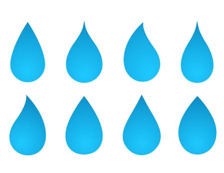 Ensemble de silhouettes à la goutte d'eau