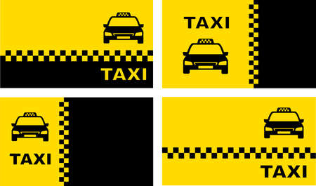 set of taxi background with place for text