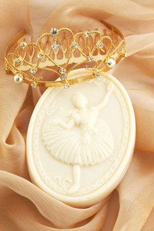 Soap with the image of ballerina and the gold diadem photo