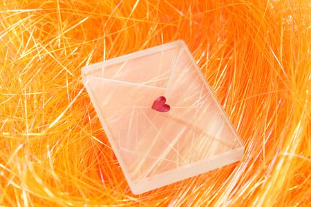 Transparent envelope with the amorous message photo