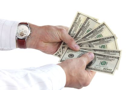 To recount the money / time is money Stock Photo - 7222438