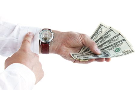 Money in the hand / time is money  Stock Photo - 7222439