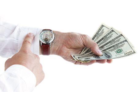 Soldi in mano / il tempo è denaro  Archivio Fotografico - 7222439