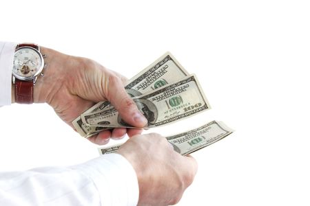 To recount the money / time is money Stock Photo - 7237232