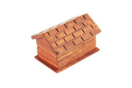 hasp: box from the mahogany in the form of the house