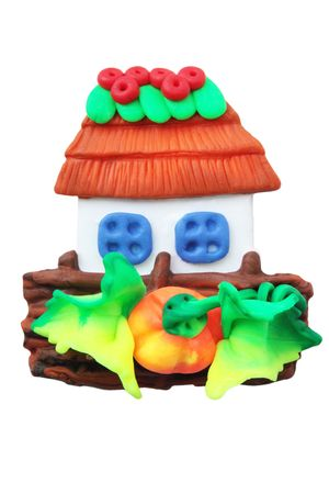 Toy house from the plasticmagnet for the refrigerator photo
