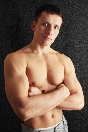Beautiful sinewy young manthe naked torso photo