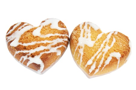 The cookies in the form of heart  photo