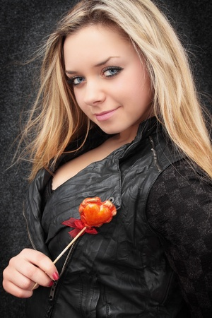 Beautiful blond holds in the hands the heart Stock Photo - 8687349