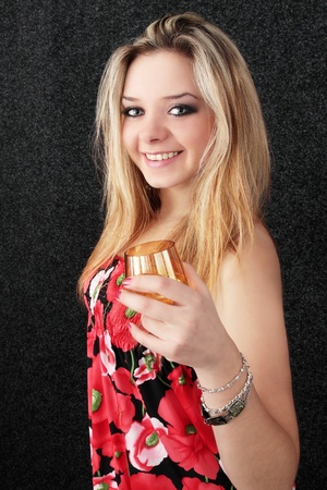 Blond to drink alcoholic beverage the cognac photo