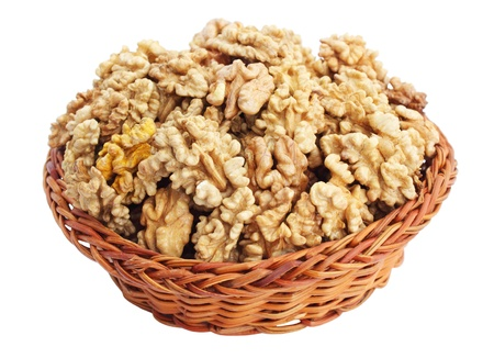 Are purified the nuclei walnuts in the basket Stock Photo - 8874865