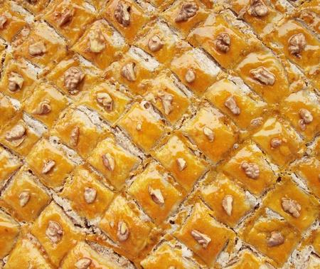 Baklava eastern sweet dessert closeup  photo