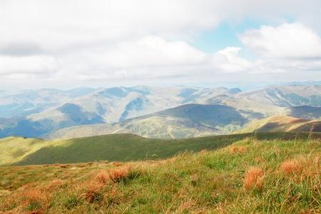 Carpathian summer views, mountain and the plain Stock Photo - 8952173