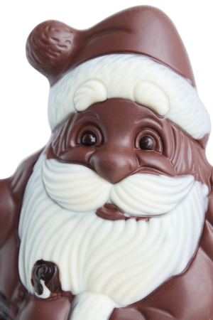 Santa Claus from the chocolate Christmas dessert  photo