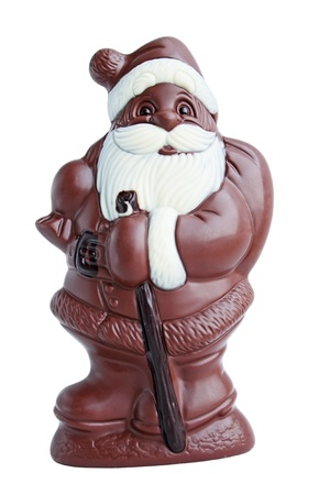 Christmas dessert Santa Claus from the chocolate